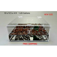 1 65 GALLON CAGE WITH HINGED TOP FOR TARANTULA,REPTILES,SPIDERS, TERRARIUM, SNAKE