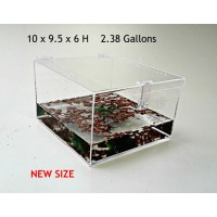 2.38 GALLON CAGE WITH HINGED TOP FOR TARANTULA,REPTILES,SPIDERS, TERRARIUM, SNAKE