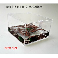 2.25 GALLON CAGE WITH HINGED TOP FOR TARANTULA,REPTILES,SPIDERS, TERRARIUM, SNAKE