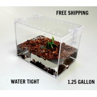 1 1/4 GALLON CAGE WITH HINGED TOP FOR TARANTULA,REPTILES,SPIDERS, TERRARIUM, SNAKE