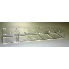 ACRYLIC 5 COMPARTMENT VENDOR CAGE