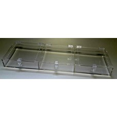 ACRYLIC 3 COMPARTMENT VENDOR CAGE